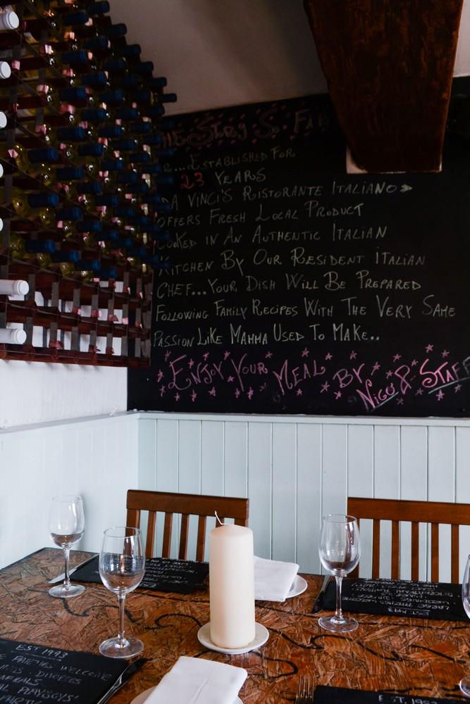 restaurant-da vincis menu